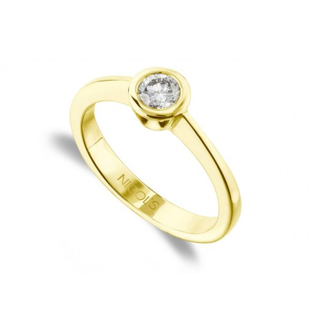SHARON Yellow Gold (18kt) Engagement Ring with Diamond