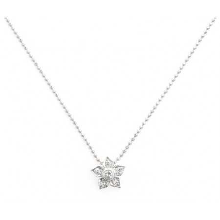 Gold Diamond Necklace FLOWER