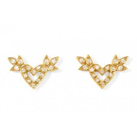 Gold earrings Hearts