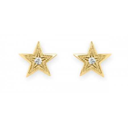 Star earrings 0.04ct MINI DETAILS