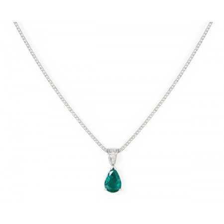 Emerald Drop Necklace NICOLS