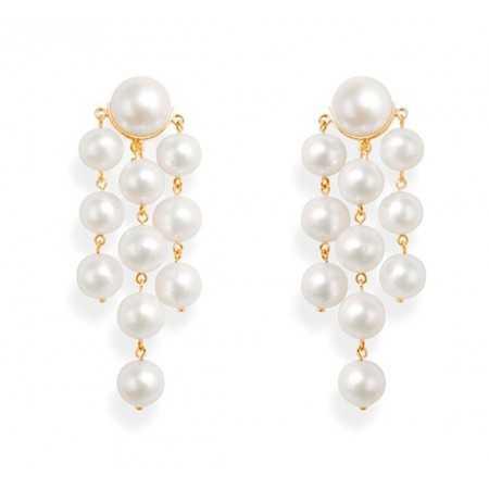 PEARLS pearl earrings MAXI