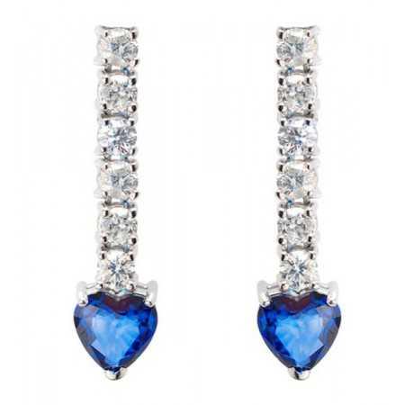 Diamond Earrings Sapphires BLUE BLOOD