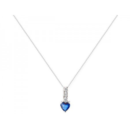 Sapphire Diamond Necklace BLUE BLOOD