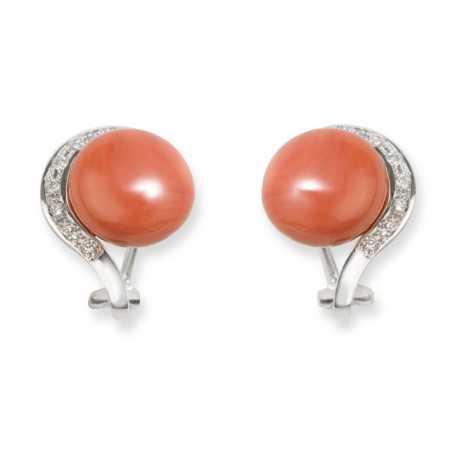 Diamond earrings CORAL