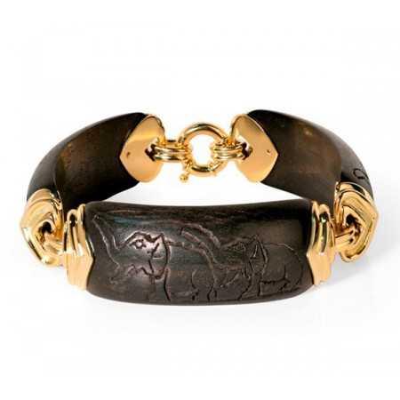 Gold Bracelet WILD ELEPHANTS HEART