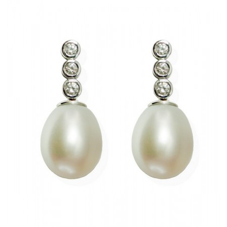 Diamond earrings PEARLS LADY