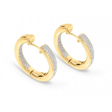 Classic Diamond Creole Hoop Earrings