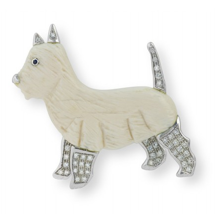 MY LOVE DOGS Dog brooch West Highland Terrier