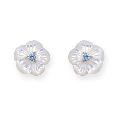 Gold earrings FLOWER
