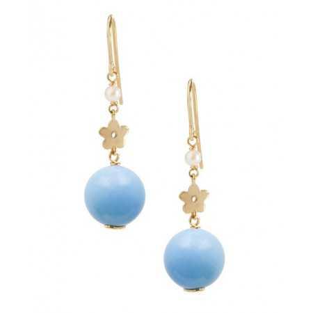 Pearl earrings Turquoise PEARLS LADY