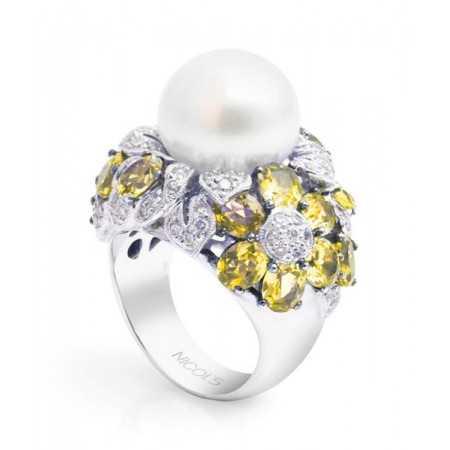 Diamond Ring Pearl PEARLS LADY