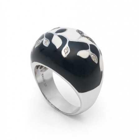 Diamond Ring Yin Yang