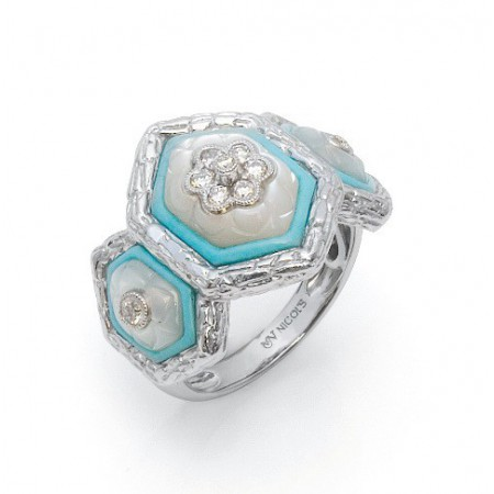 Diamond Ring Turquoise Aires East