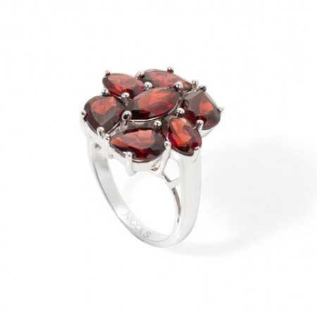 Garnets ring FLOWERS