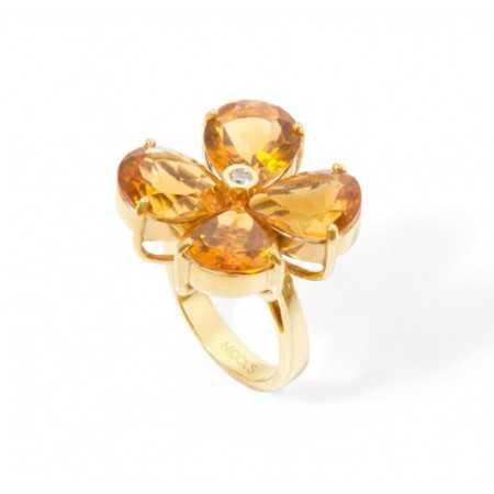 Citrine Diamond Ring FLOWERS