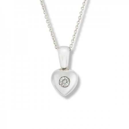 0.08ct Diamond Heart Pendant