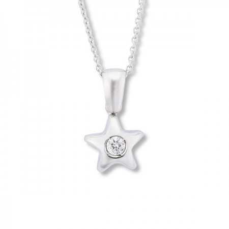 0.08ct Diamond Star Pendant