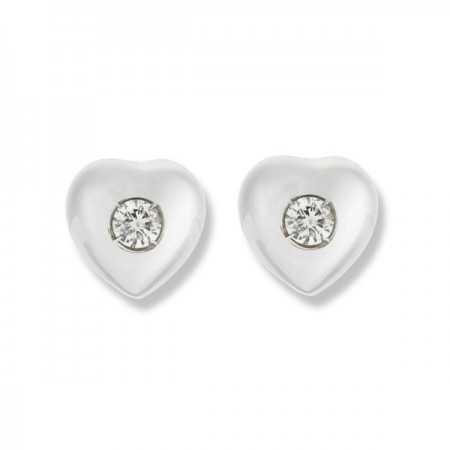 0.16ct Diamond Heart Earrings