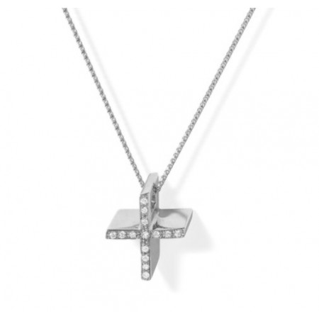 Diamonds Gold Cross CATHOLIC SIGN