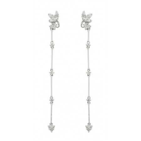 Diamond earrings FLOWER