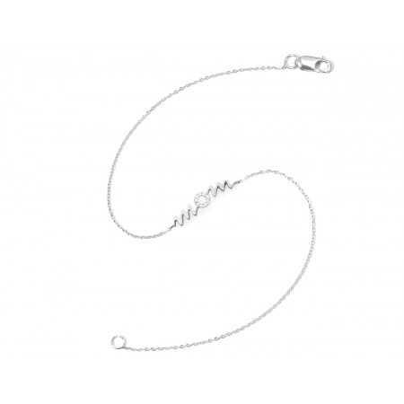 White gold bracelet MAMA MOM MINI DETAILS
