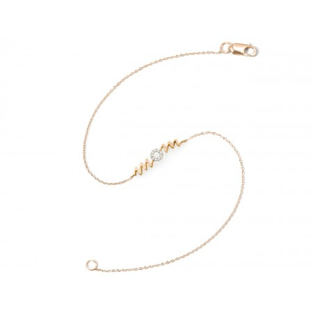 Gold Bracelet MAMA MOM MINI DETAILS