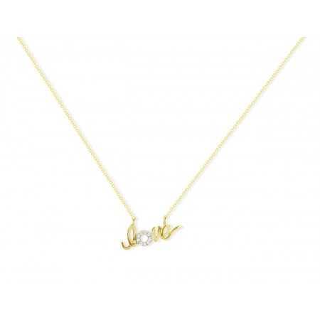 Diamond necklace LOVE MINI DETAILS