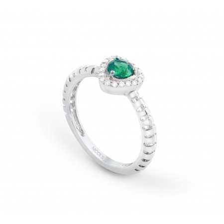 Aquamarine ring TRIANGLE