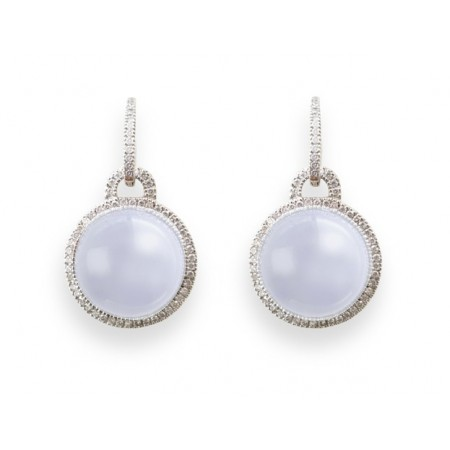 Diamond earrings CABOCHON