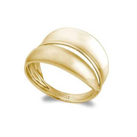 Gold ring BASIC GOLD BANDS CONCAVA CONVEXA