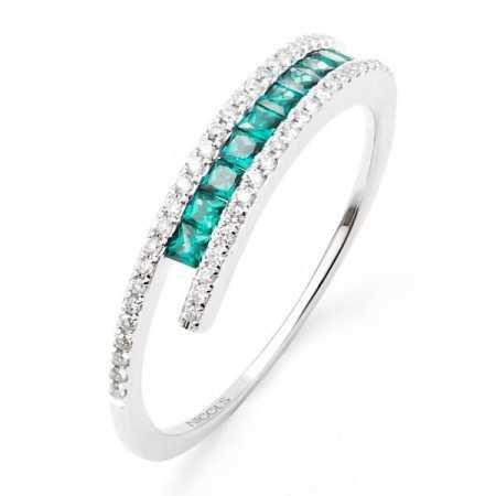 Emerald Ring COLOR DIAMOND BAND