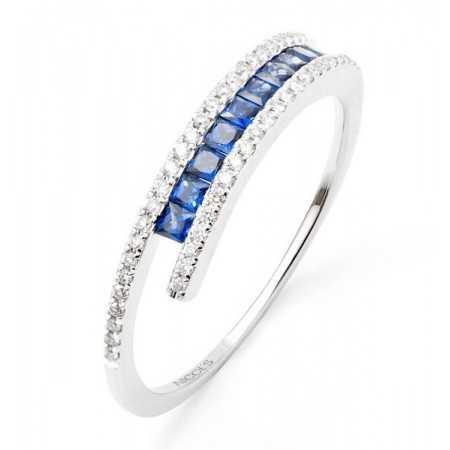 Sapphire Ring DIAMOND BAND COLOR