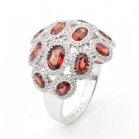 Garnet ring GALAXY MED