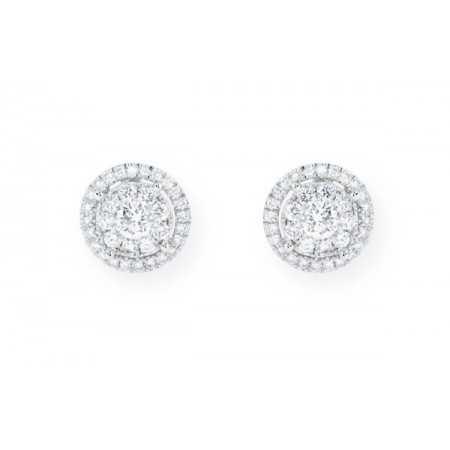 Diamond earrings dormilonas