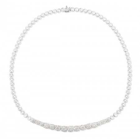 Riviere Necklace Wedding Band Roseton