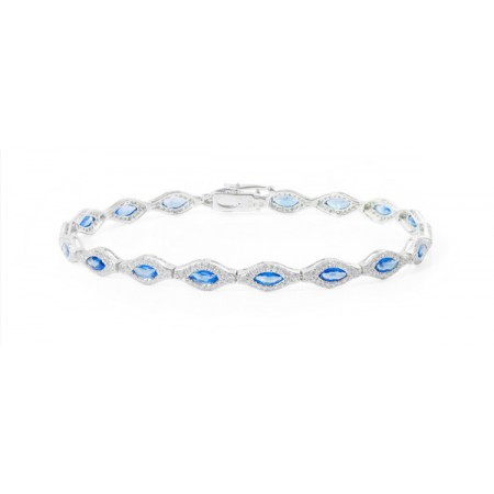 Sapphires Gold Bracelet ROMBOS