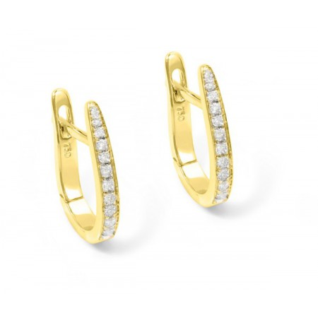 Diamond Hoop Earrings OVAL