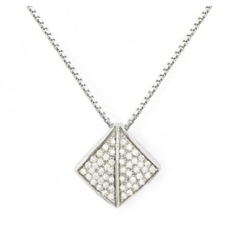 Gold Diamond Pendant LEAF