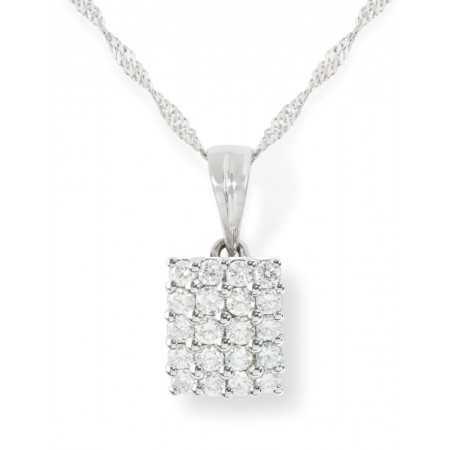 Diamond pendant MINI SQUARE