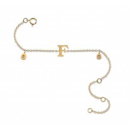 Bracelet initial letter F MINI DETAILS