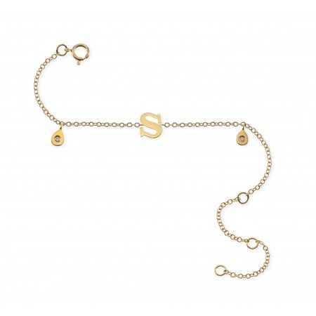 Bracelet initial letter S MINI DETAILS
