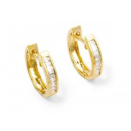 Diamond earrings CREOLE BAGUETTE
