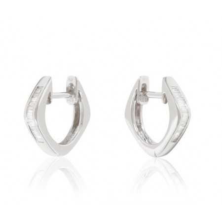 ARO diamond earrings CREOLE BAGUETTE
