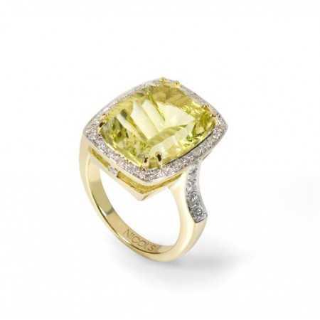 Gold Diamond Ring COCKTAIL