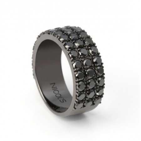 Black Diamonds Gold Ring BLACK POWER