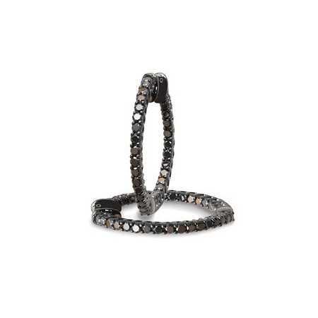 Black Diamond Hoop Earrings BLACK POWER