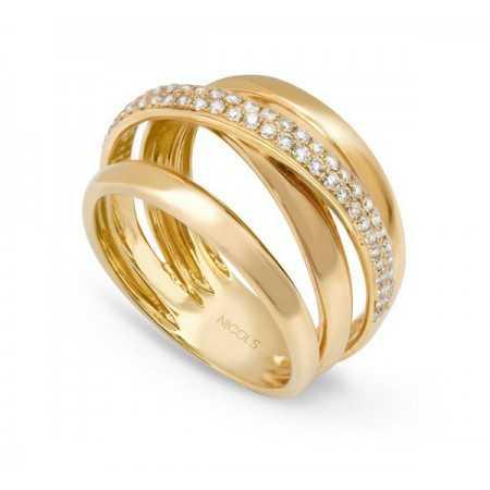 Gold Diamond Ring BURNING EARTH