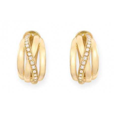 Gold Diamond Earrings BURNING EARTH