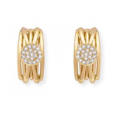 Gold Diamond Earrings EARTH SPOT